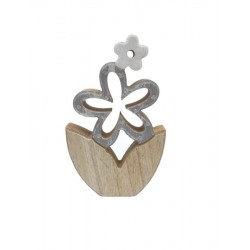 Wooden flower for deco