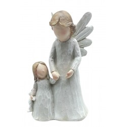 Guardian Angel with Kid and Teddy Bear