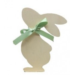 Easter Bunny in wood white