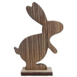 Coniglietti Pasquali in legno marrone