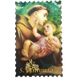 Hl. Antonius Holzmagnet in Form einer Briefmarke