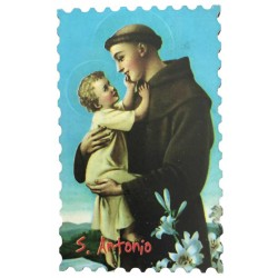 Magnet in wood of Saint Anthony of Padua