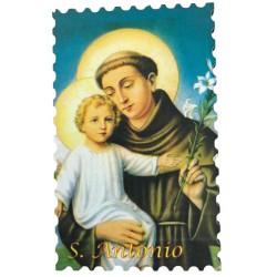 Holzmagnet Heiliger Antonius mit Lilie