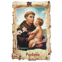 Holzmagnet Heiliger Antonius mit Kind