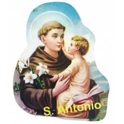 Wooden magnet with a picture of St. Anthony