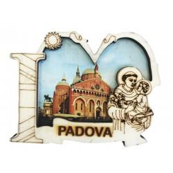 Holzmagnet I Love Heiliger Antonius von Padua