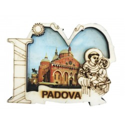 Wooden Magnet I Love Saint Anthony of Padua