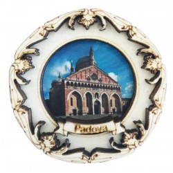 Natural wood magnet with St. Anthony's Basilica