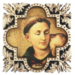 Magnet carved in wood with Saint Anthony