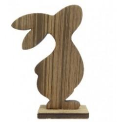 Coniglietto di Pasqua in legno marrone