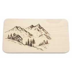 Cutting board - mountain hut 22x12 cm