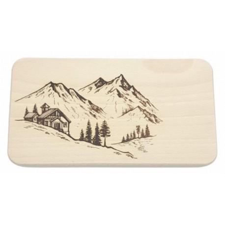 Cutting board - mountain hut 22x12 cm