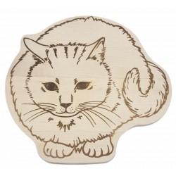 Schneidbrett - Katze 22x22 x1,2 cm