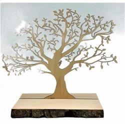 Baum auf Rindenbrett 30x26 cm