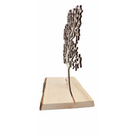 Tree on a bark board 30x26 cm