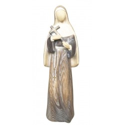 Saint Rita of Cascia Statue wood carving - ash