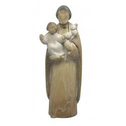 Saint Joseph with Baby Jesus wood carved - ash