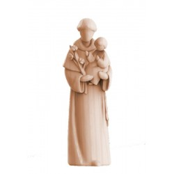 Saint Anthony Statue wood carved - Middle brown