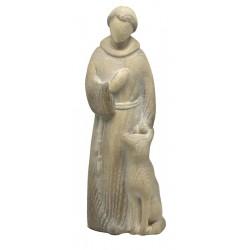 Saint Francis Modern Stile wood carved Statue - ash