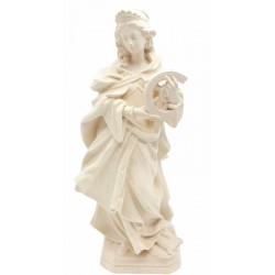 Saint Catherine od Alexandria with wheel wood Carving - natural