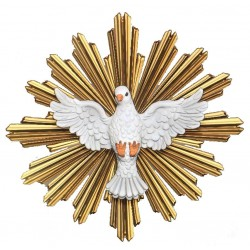 Spirito Santo con raggiera - colorato a olio