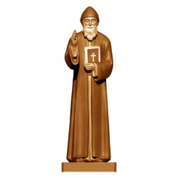 Saint Charbel in wood - stained 3 col.