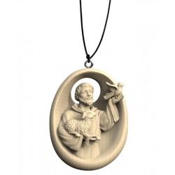 Collana con San Francesco - ulivo