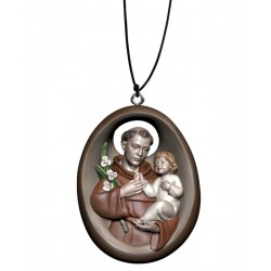Collana con Sant'Antonio - colorato a olio
