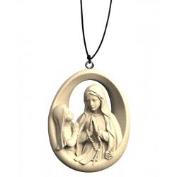 Collana Madonna di Lourdes con Bernardette - naturale