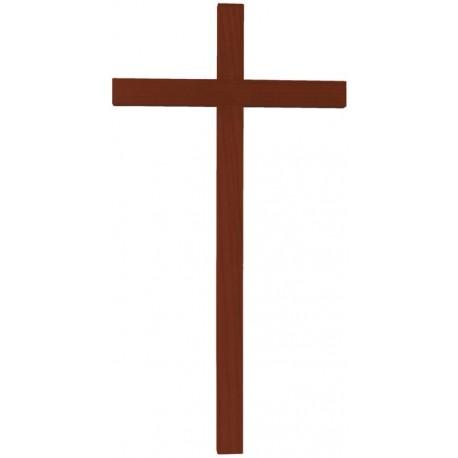Croce diritta scolpita in legno massello