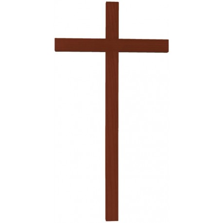 Kreuz mit geradem handgeschnitzten Balken aus Eschenholz