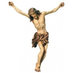 Crucifix and Corpus of Jesus Christ Baroque wood carved By Hand in Val Gardena - Made in Italy - oil colors