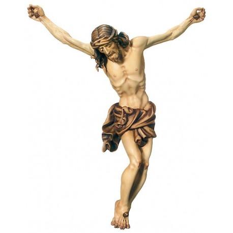 Jesus Christus Körper barock in Ahornholz - mehrfach gebeizt