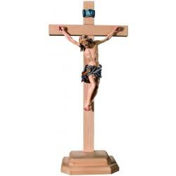 Christuskörper mit Sockel auf geradem Balken