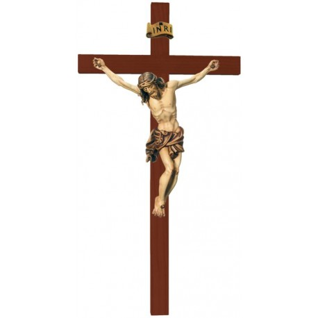 Body of Christ on straight Cross - stained 3 col.