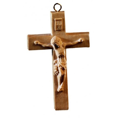 Crocifisso scolpito per terminale di rosario