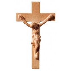 Crocifisso scolpito in legno per rosario - legno colorato in diverse tonalitá di marrone
