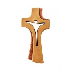 Croce Betlehem stilizzata ed elegante scolpita accuratamente in legno