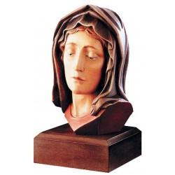 Testa di Madonna scolpita in legno massello