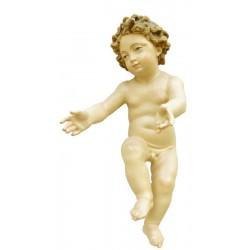Bambinello Gesù scolpito raffinatamente in legno d'acero - Dolfi presepe per bambini, Val Gardena - colori ad olio