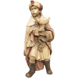 König Mohr aus Ahornholz geschnitzt, diese Holzschnitzerei ist eine wichtige Südtiroler Holzfigur - Brauntöne lasiert