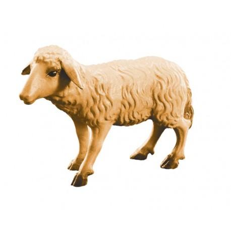 Pecorella in piedi - legno colorato in diverse tonalitá di marrone