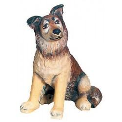Schäferhund aus Ahornholz geschnitzt, diese Holzschnitzerei ist eine wichtige Südtiroler Holzfigur - Ölfarben lasiert