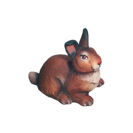 Rabbit carved in maple wood - color