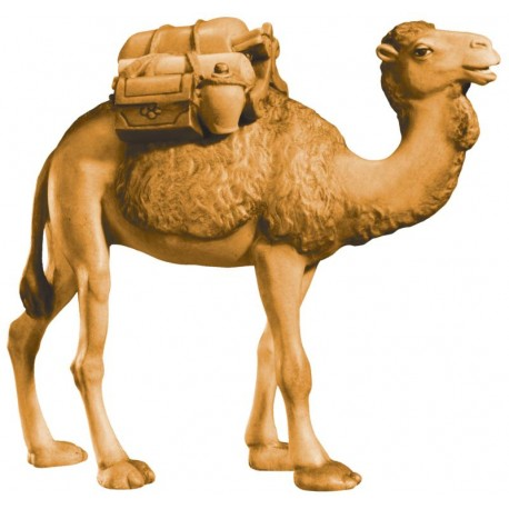 Camel in wood with Saddle - stained 3 col.