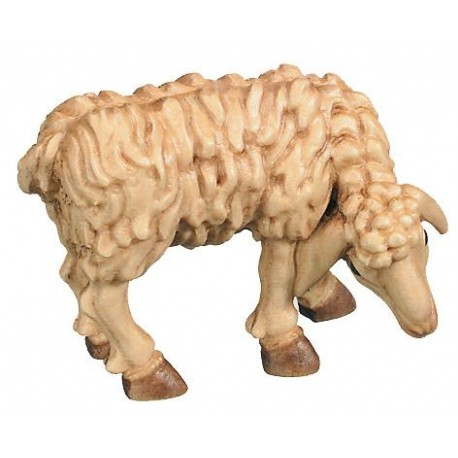 Chewing Sheep for wood nativity set - stained 3 col.