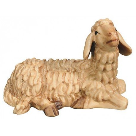 Lying Sheep in maple wood - stained 3 col.