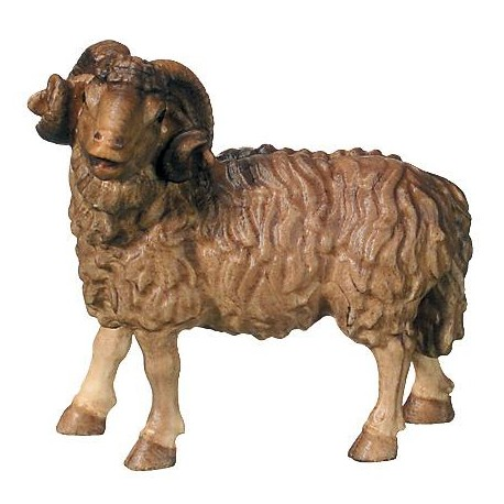 Ram wood carved - stained 3 col.