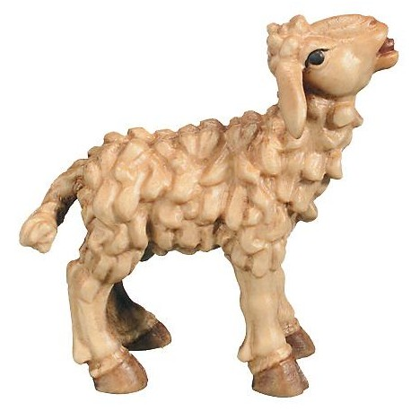 Lamb wood carved - stained 3 col.