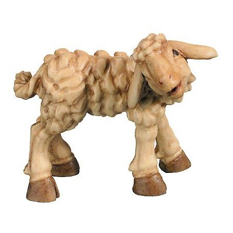 Lamb wood carving - stained 3 col.